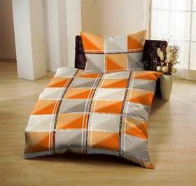 Bavla Ranforce 140x200 ŠTVORCE orange